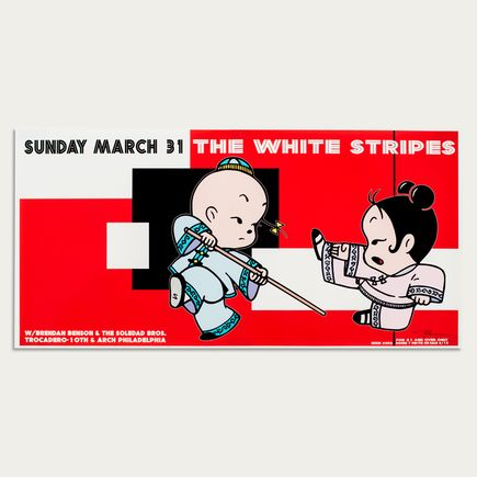 Kozik Art - The White Stripes - Mar. 31st, 2002 at The Trocadero Theatre