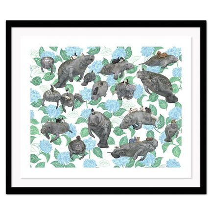 Kozyndan Art Print - Vegans: Manatees n' Bunnies