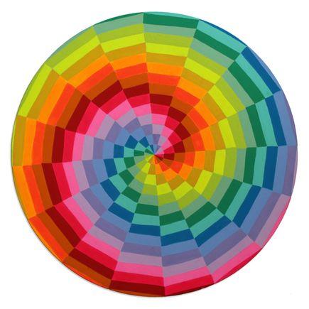 Kristin Farr Original Art - Neon Rainbow - Original Artwork