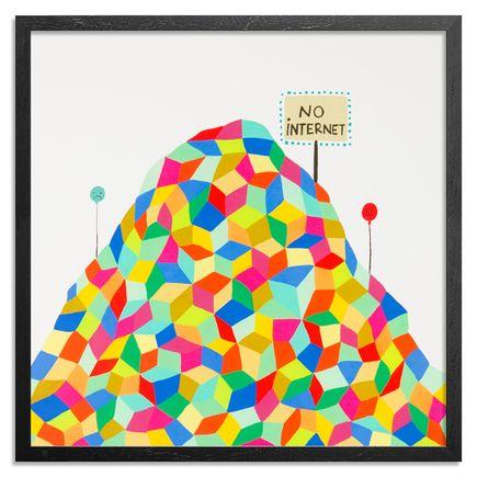 Kristin Farr Art Print - No Internet - Hand-Embellished Edition