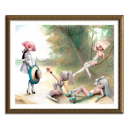 Kukula Art Print - Play With Us - Hand-Embellished Edition - Framed