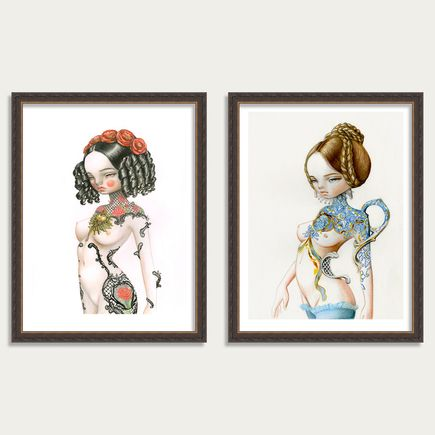 Kukula Art Print - Sicille + Blue Jane - 2-Print Set