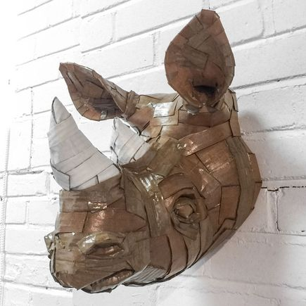 Laurence Vallieres Original Art - Rhinoceros Head