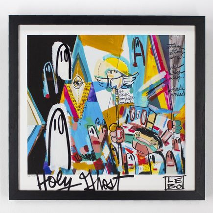 Lebo Art - Boombastic Hand-Embellished Prints - Framed