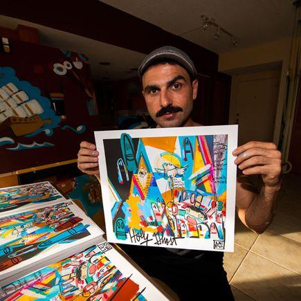 Lebo Art Print - Boombastic Hand-Embellished Prints