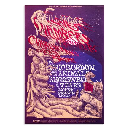Lee Conklin Art Print - Eric Burdon and the Animals - The Chambers Brothers - Fillmore West - 1968