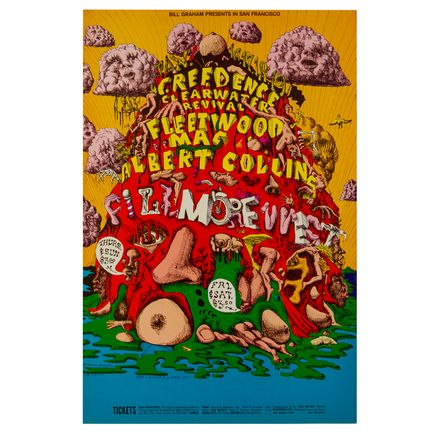 Lee Conklin Art - Fleetwood Mac at Fillmore West - January 1969