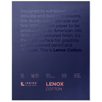 Legion Paper Book - 11x14 Lenox Cotton Paper Pad