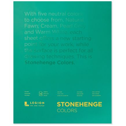 Legion Paper Book - 11x14 Stonehenge Colors Paper Pad