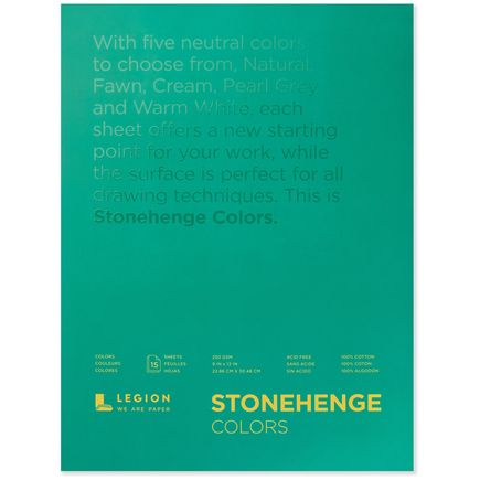 Legion Paper Book - 9x12 Stonehenge Colors Paper Pad