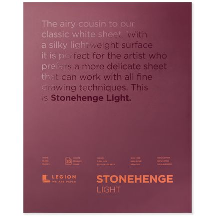 Legion Paper Book - 11x14 Stonehenge Light Paper Pad