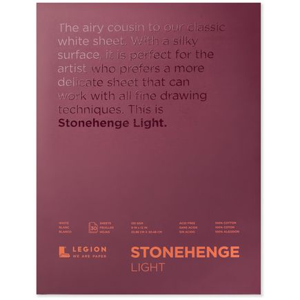 Legion Paper Book - 9x12 Stonehenge Light Paper Pad