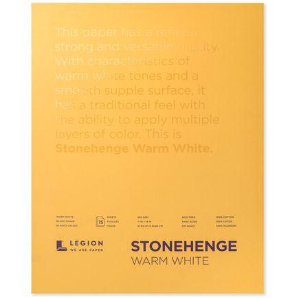 Legion Paper Book - 11x14 Stonehenge Warm White Paper Pad