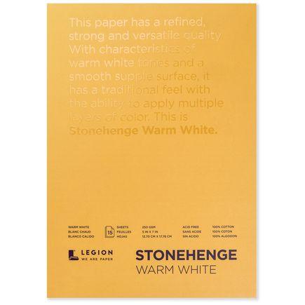 Legion Paper Book - 5x7 Stonehenge Warm White Paper Pad