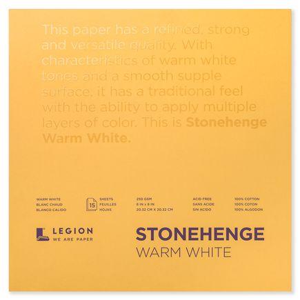 Legion Paper Book - 8x8 Stonehenge Warm White Paper Pad