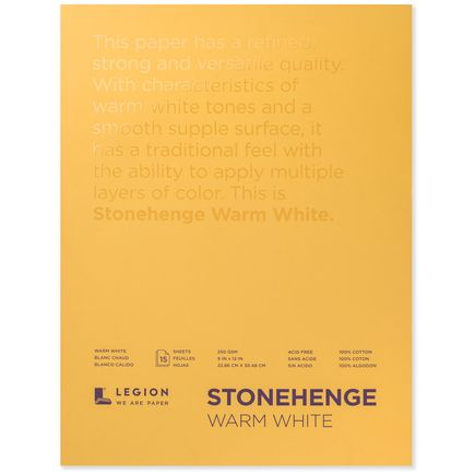 Legion Paper Book - 9x12 Stonehenge Warm White Paper Pad