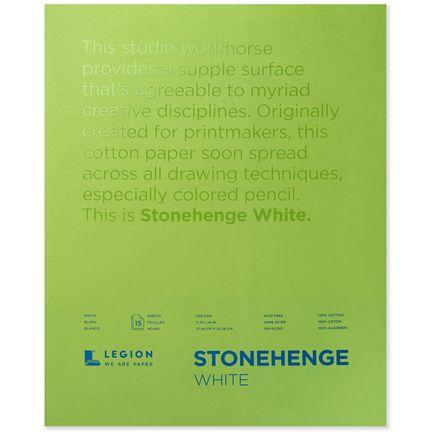 Legion Paper Book - 11x14 Stonehenge White Paper Pad