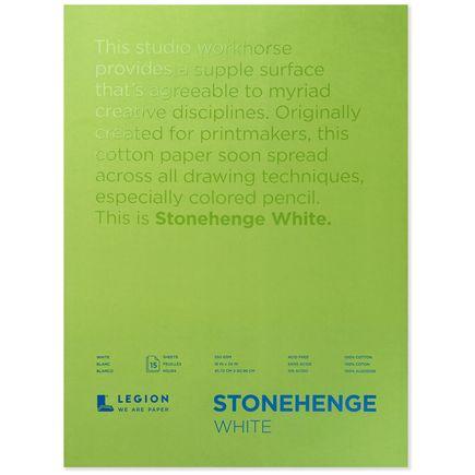 Legion Paper Book - 18x24 Stonehenge White Paper Pad