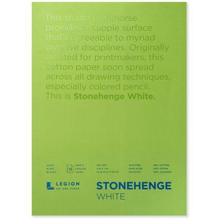 Legion Paper Book - 5x7 Stonehenge White Paper Pad