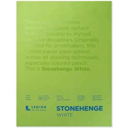 Legion Paper Book - 9x12 Stonehenge White Paper Pad