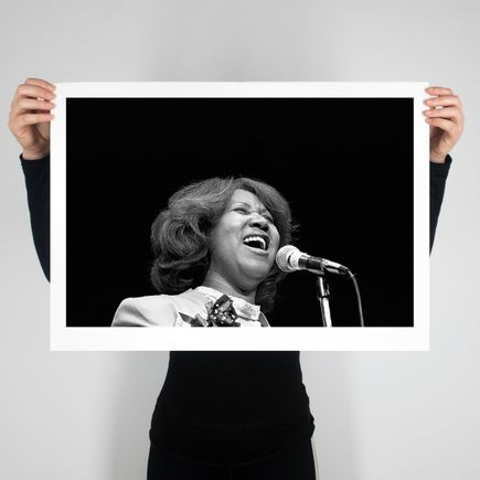 Leni Sinclair Art Print - 24 x 17 Inch Edition - Aretha Franklin - Cobo Hall - 1980