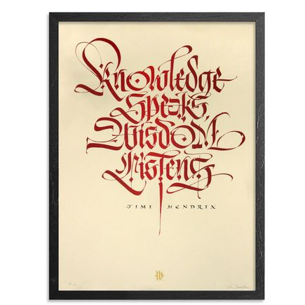 Luca Barcellona Art Print - Knowledge Speaks - Red