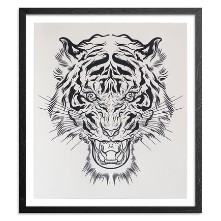 Lucky Olelo Art Print - Tiger Style - Black Edition