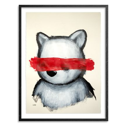 Luke Chueh Original Art - Bear And The Red Censor Bar