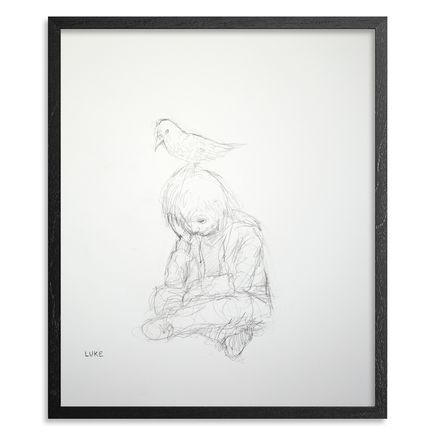 Luke Chueh Original Art - The Boy & The Bird