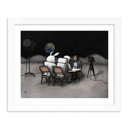 Luke Chueh Art Print - Rabbit On The Moon - Lunch Break