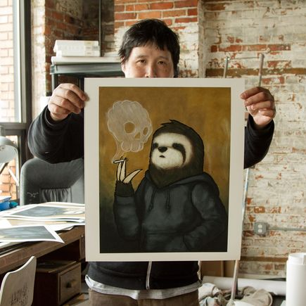 Luke Chueh Art Print - Smoke Signals - Skull Variant