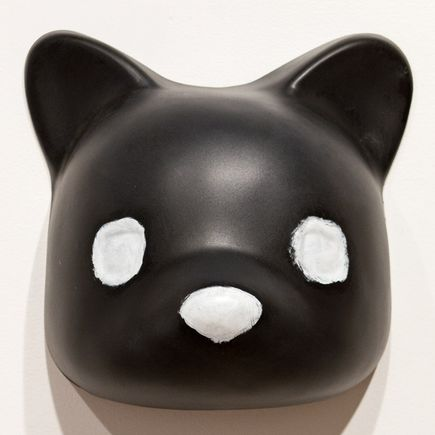 Luke Chueh Art - Vaccuuform Bear Head - Black