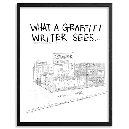 Lush Art Print - What A Graffiti Writer Sees - Limited Edition