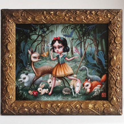 Mab Graves Original Art - Snow White In The Black Forest - Original Artwork