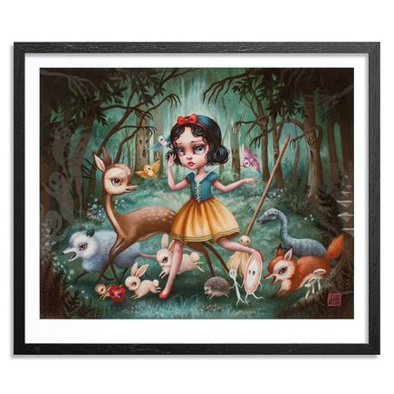 Mab Graves Art Print - Snow White In The Black Forest