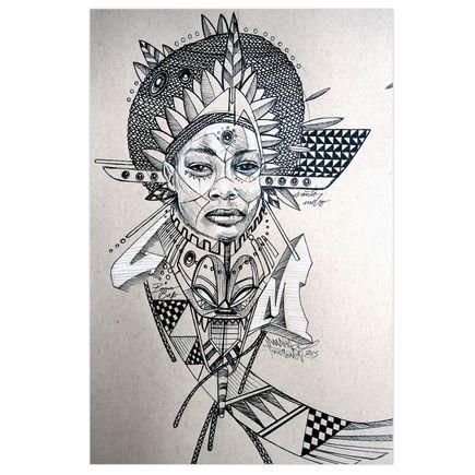 Marka27 Original Art - Neo Indigenous - Santo Indio