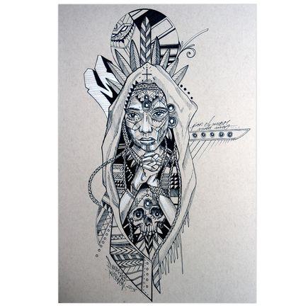 Marka27 Original Art - Neo Indigenous - Amor De Alma