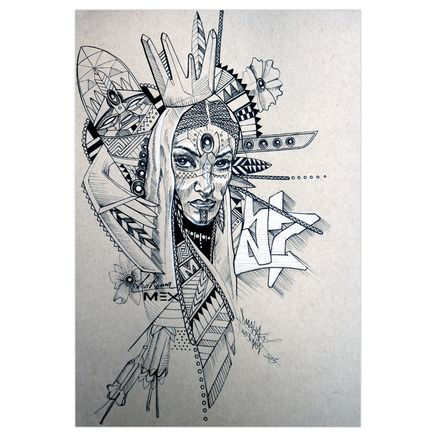 Marka27 Original Art - Neo Indigenous - La Reina