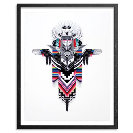 Marka27 Art Print - Nocturnal Wisdom - Hand Embellished Prints