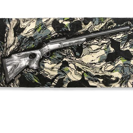 Mary Williams Original Art - Camo Map
