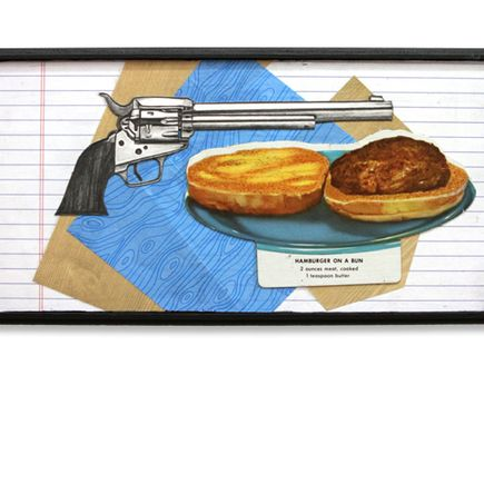 Mary Williams Original Art - Gun on Bun