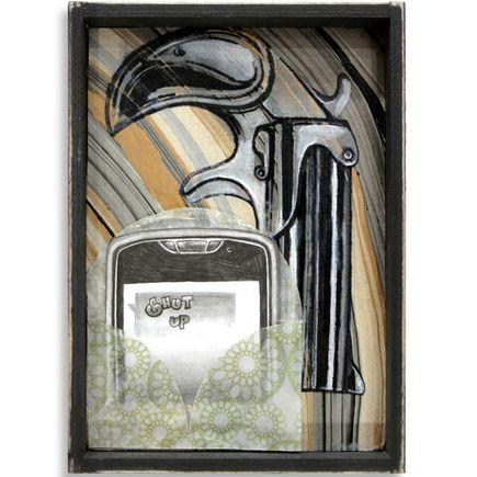 Mary Williams Original Art - Phone on Silent
