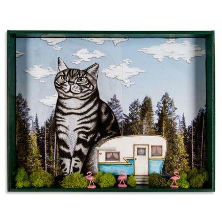 Mary Williams Original Art - Big Cat In Your Backyard