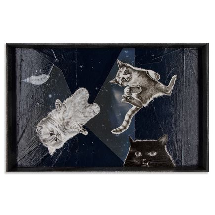 Mary Williams Original Art - Cats In Space