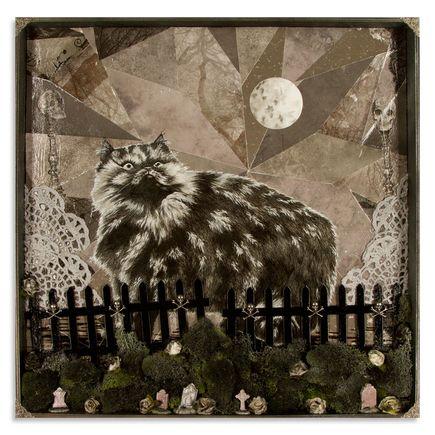 Mary Williams Original Art - Cat Reveling In Human Cemetery
