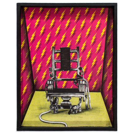 Mary Williams Original Art - Electronic Chair with Matching Wallpaper