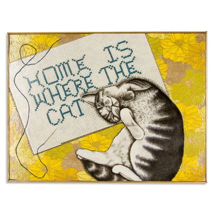 Mary Williams Original Art - Home Is Where The Cat Is