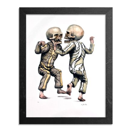 Matt Gordon Art Print - Bone Trot (Black & Green Edition) - Framed