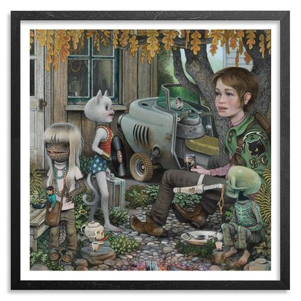 Matt Gordon Art - Lady Yard - Framed