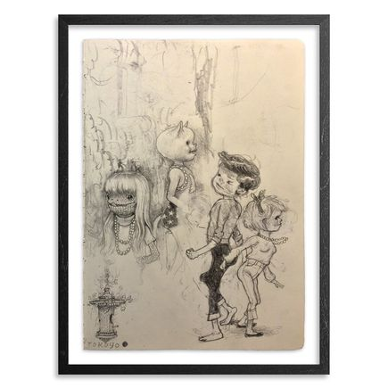 Matt Gordon Original Art - Lady Yard - Original Sketch